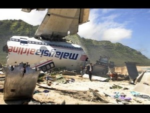 Débris de l'avion du vol 17 d'Air Malaysia Source: www.examiner.com